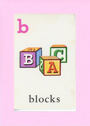 B is for blocks - PLYMOUTH CARD COMPANY  - 29