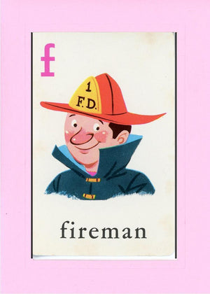 F is for Fireman - PLYMOUTH CARD COMPANY  - 29