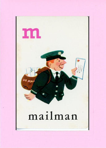 M is for Mailman - PLYMOUTH CARD COMPANY  - 29