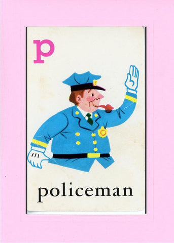 P is for Policeman - PLYMOUTH CARD COMPANY  - 20