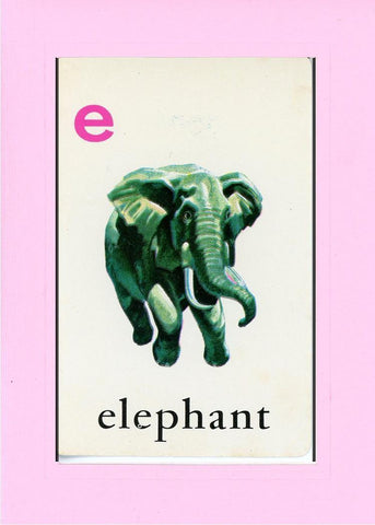 E is for Elephant - PLYMOUTH CARD COMPANY  - 30