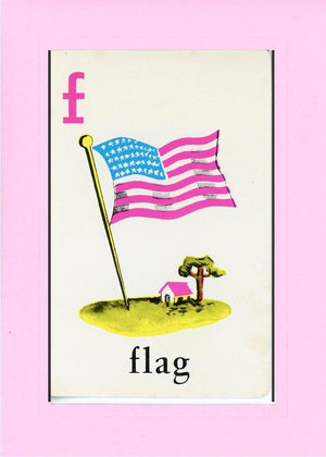 F is for Flag - PLYMOUTH CARD COMPANY  - 13