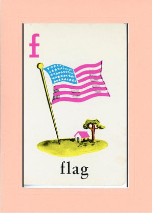 F is for Flag - PLYMOUTH CARD COMPANY  - 14