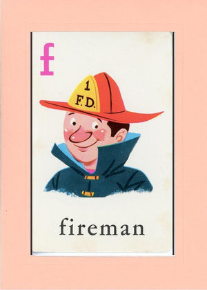 F is for Fireman - PLYMOUTH CARD COMPANY  - 24