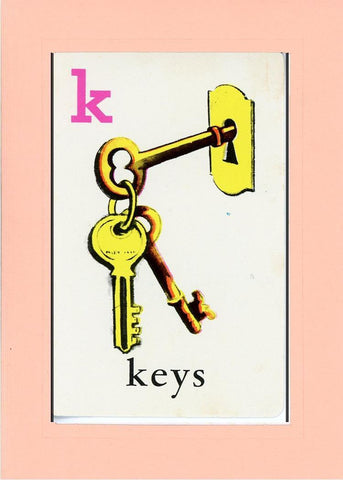 K is for Keys - PLYMOUTH CARD COMPANY  - 23