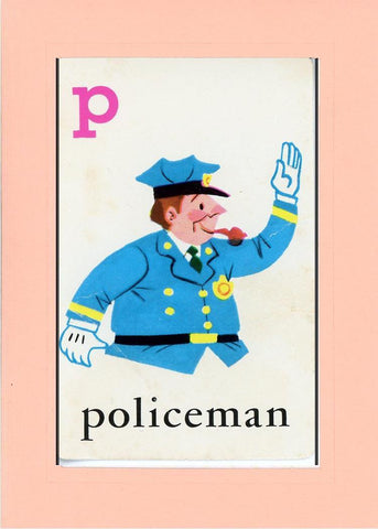 P is for Policeman - PLYMOUTH CARD COMPANY  - 21