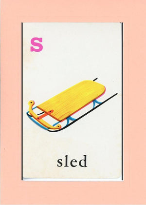 S is for Sled - PLYMOUTH CARD COMPANY  - 22