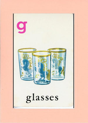 G is for Glasses - PLYMOUTH CARD COMPANY  - 24