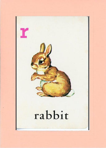 R is for Rabbit - PLYMOUTH CARD COMPANY  - 22