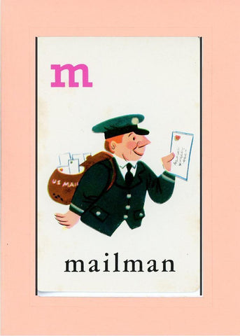 M is for Mailman - PLYMOUTH CARD COMPANY  - 23