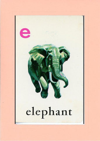 E is for Elephant - PLYMOUTH CARD COMPANY  - 24