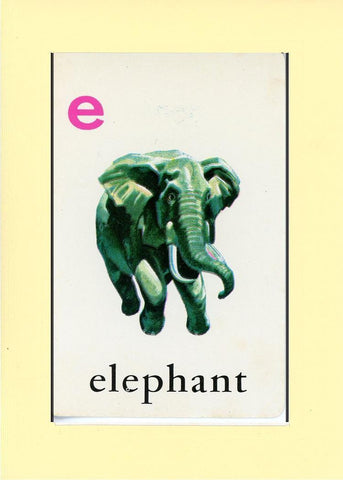 E is for Elephant - PLYMOUTH CARD COMPANY  - 31