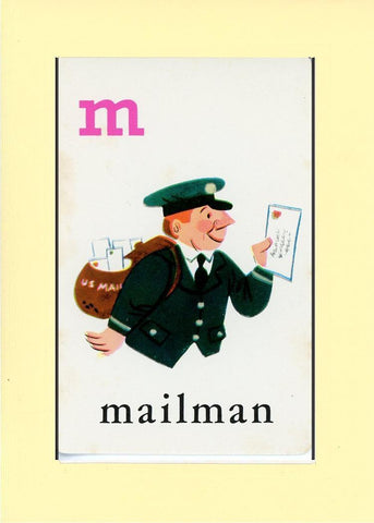 M is for Mailman - PLYMOUTH CARD COMPANY  - 30