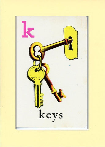 K is for Keys - PLYMOUTH CARD COMPANY  - 30