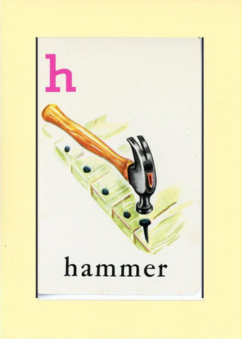 H is for Hammer - PLYMOUTH CARD COMPANY  - 30