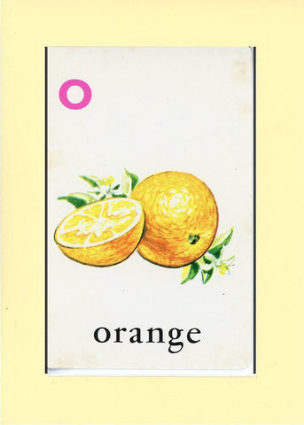 O is for Orange - PLYMOUTH CARD COMPANY  - 22
