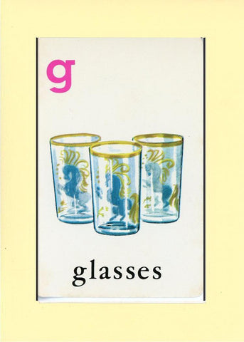 G is for Glasses - PLYMOUTH CARD COMPANY  - 30
