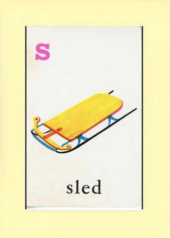 S is for Sled - PLYMOUTH CARD COMPANY  - 23