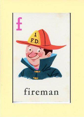 F is for Fireman - PLYMOUTH CARD COMPANY  - 30