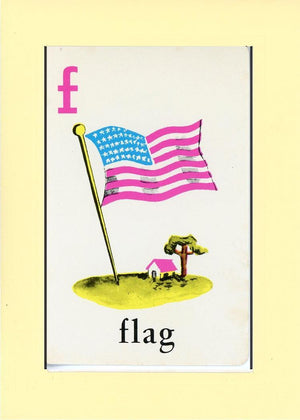 F is for Flag - PLYMOUTH CARD COMPANY  - 15
