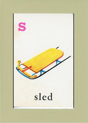 S is for Sled - PLYMOUTH CARD COMPANY  - 24