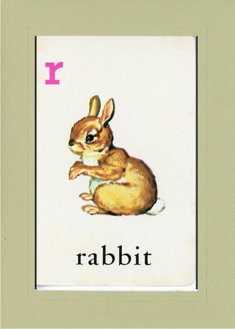 R is for Rabbit - PLYMOUTH CARD COMPANY  - 24