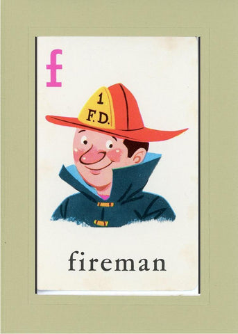 F is for Fireman - PLYMOUTH CARD COMPANY  - 25