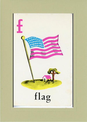 F is for Flag - PLYMOUTH CARD COMPANY  - 16
