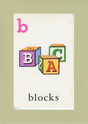 B is for blocks - PLYMOUTH CARD COMPANY  - 25