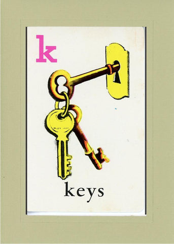K is for Keys - PLYMOUTH CARD COMPANY  - 25