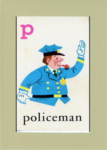 P is for Policeman - PLYMOUTH CARD COMPANY  - 23