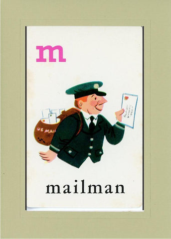 M is for Mailman - PLYMOUTH CARD COMPANY  - 25