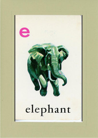 E is for Elephant - PLYMOUTH CARD COMPANY  - 26