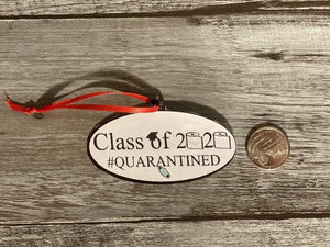 Class of 2020 Ornament with quarter for scale