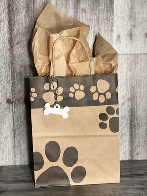 Gift Bag & Tag - Paw Prints-Bags-Plymouth Cards