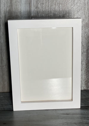 White Solid Picture Frame-Plymouth Cards