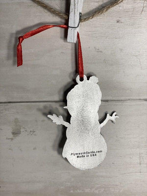 Blue Clarence the Snowman Ornament