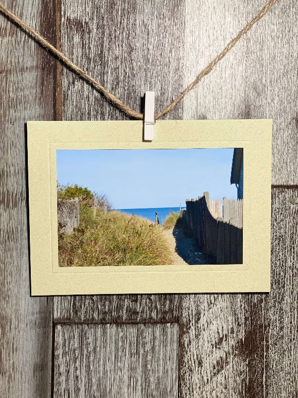 Beach Walkway-Plymouth Cards