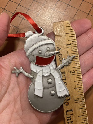 Purple Clarence the Snowman Ornament-Plymouth Cards