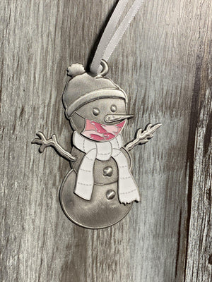 Pink Camo Clarence the Snowman Ornament-Plymouth Cards