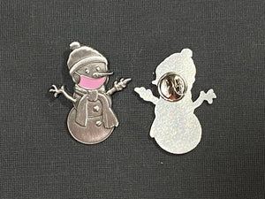 Clarence the Snowman Pin-Plymouth Cards