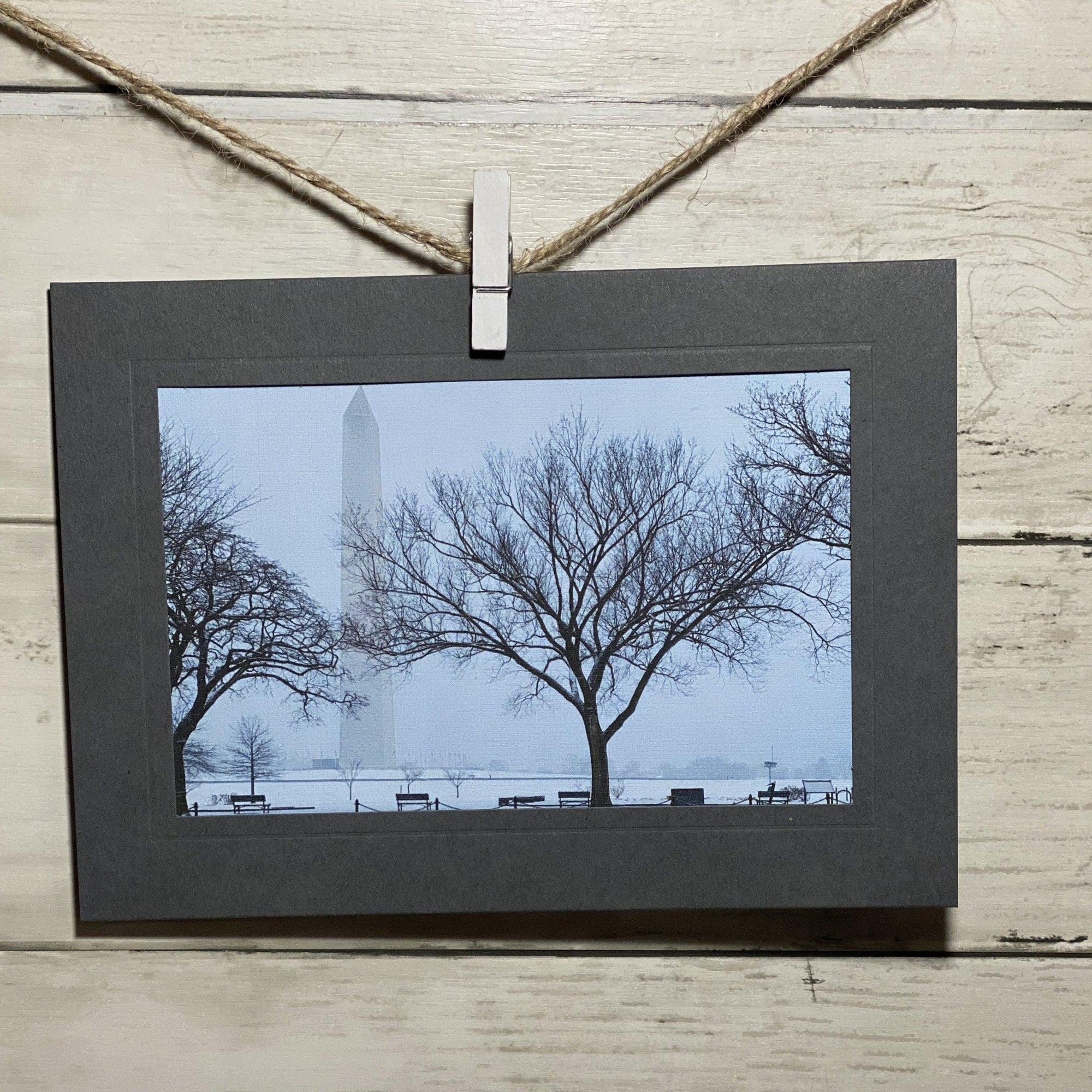 Snowy Washington Monument-Plymouth Cards