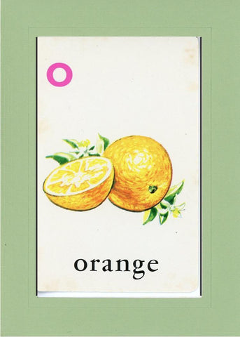 O is for Orange - PLYMOUTH CARD COMPANY  - 24