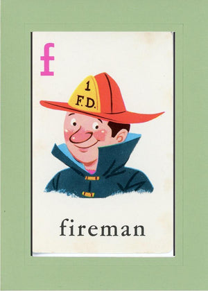 F is for Fireman - PLYMOUTH CARD COMPANY  - 28