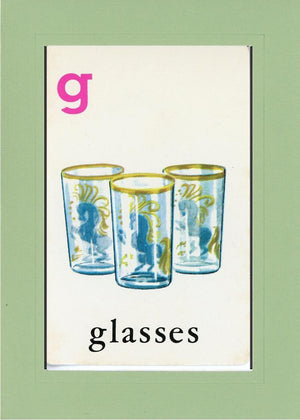 G is for Glasses - PLYMOUTH CARD COMPANY  - 28