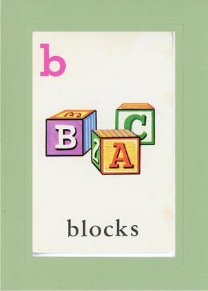 B is for blocks - PLYMOUTH CARD COMPANY  - 28