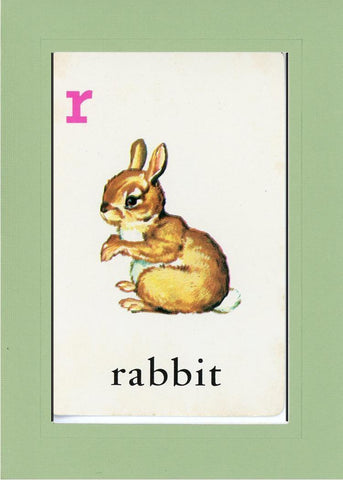 R is for Rabbit - PLYMOUTH CARD COMPANY  - 25