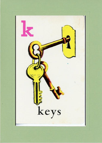 K is for Keys - PLYMOUTH CARD COMPANY  - 28