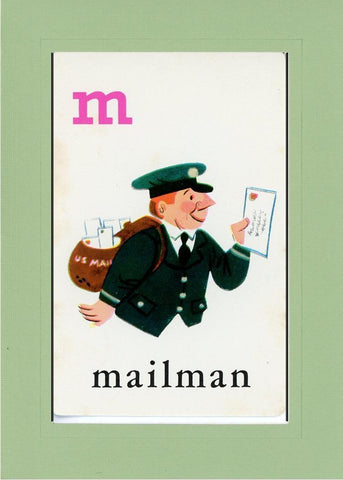 M is for Mailman - PLYMOUTH CARD COMPANY  - 28