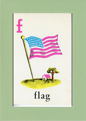 F is for Flag - PLYMOUTH CARD COMPANY  - 17